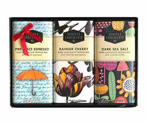Seattle Chocolates – Assorted Dark Chocolate Truffle Bars Gift Set