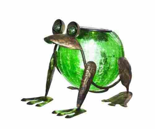 Evergreen Garden – Solar Frog Lantern