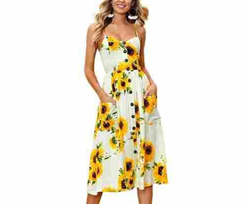 Angashion Women's Dresses: Summer Floral