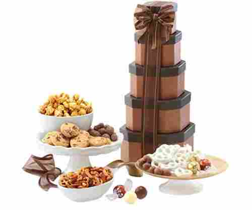 Broadway Basketeers Gift Tower of Sweets & Chocolates