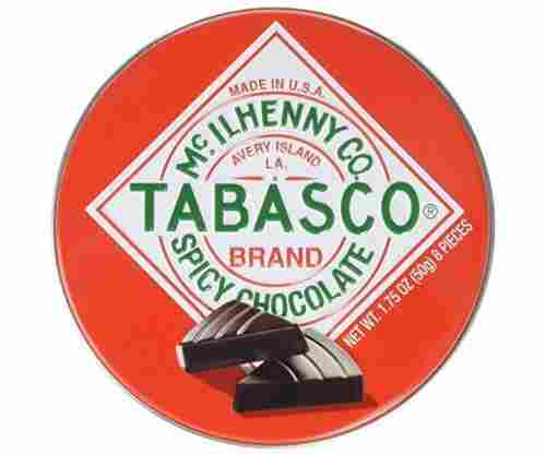 Tabasco Tin Spicy Dark Chocolate Wedges