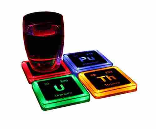 ThinkGeek Radioactive Elements Glowing Coaster Set