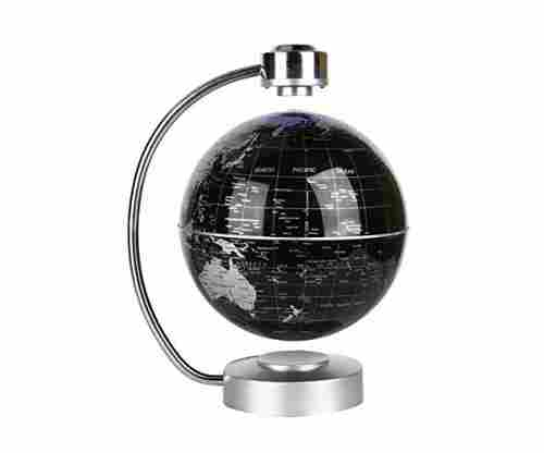 Magnetic Levitating and Rotating Planet Earth Globe Ball with World Map