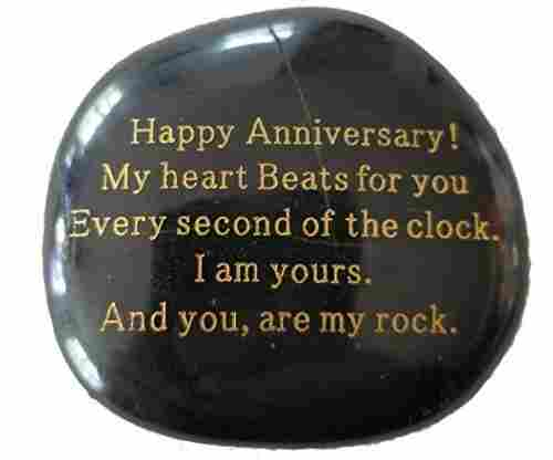Engraved Anniversary Stone Gift