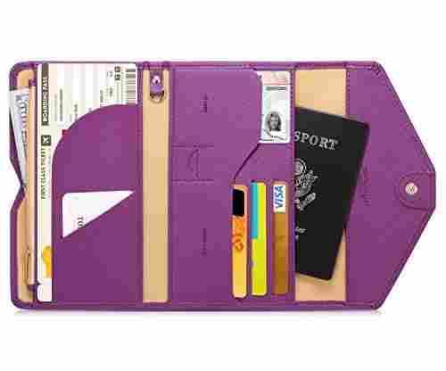 Zoopen Multi-Purpose Blocking Travel Passport Wallet