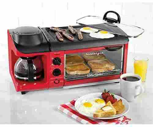 Nostalgia 3-in-1 Family Size Breakfast Station and Coffee Maker