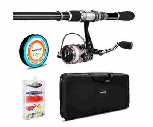 PLUSINNO Telescopic Fishing Rod and Reel Combo