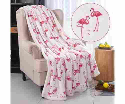 Flamingo Fuzzy Blanket