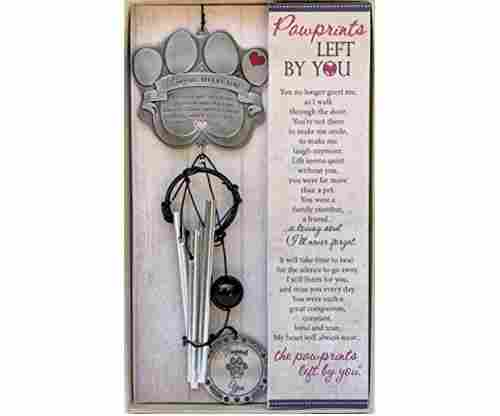 Pet Memorial Wind Chime – Metal Casted Pawprint Wind Chime