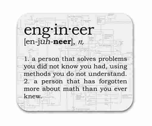 Engineer Definition – Funny Mouse Pad