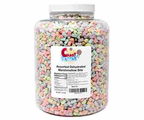 Assorted Dehydrated Marshmallow Bits in Jar