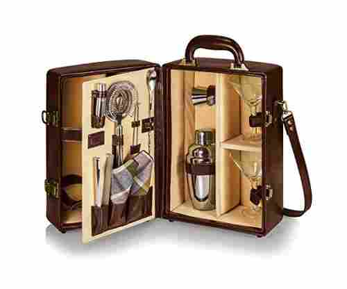 Picnic Time Manhattan Insulated Two-Bottle Cocktail Set