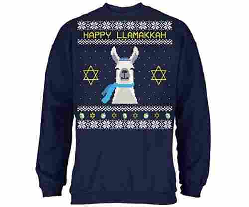 Old Glory Llama Llamakkah Ugly Hanukkah Sweater