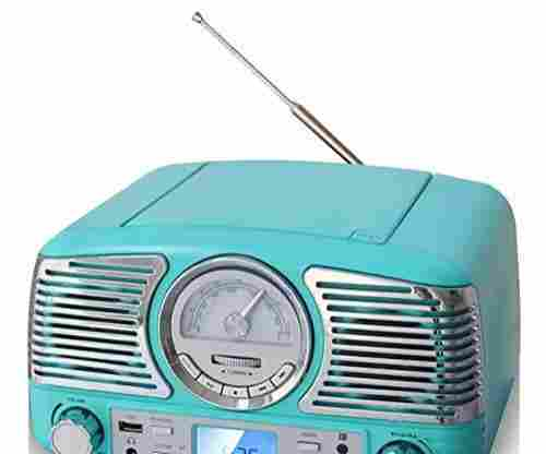 TechPlay Retro Design Stereo CD and AM FM Radio with Bluetooth