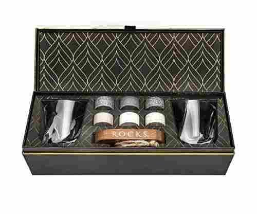 Whiskey Chilling Stones Gift Set of 6