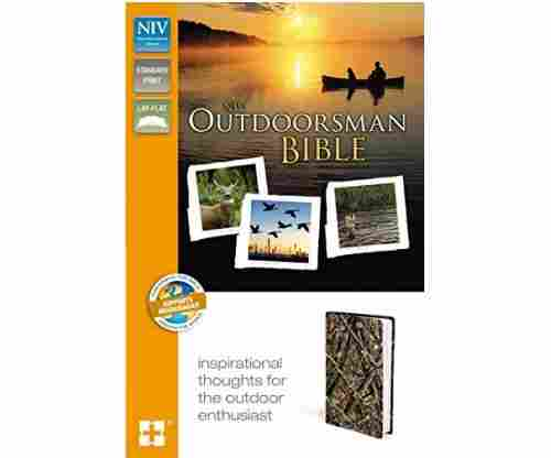 NIV Outdoorsman Bible Leathersoft Brown Red Letter Edition