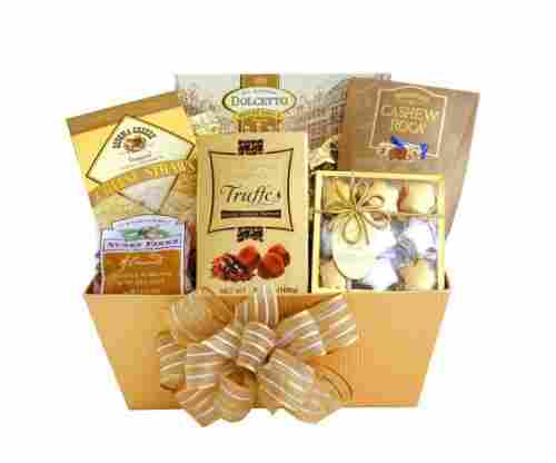 California Delicious Golden Gourmet Treats Holiday Gift Basket