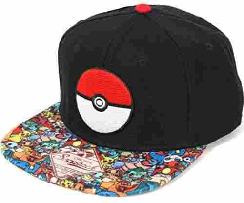 Pokemon Pokeball Sublimated Snapback Hat