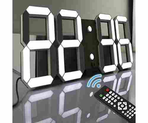 Pinty Multi-Functional Remote Control Large LED Digital Wall Clock
