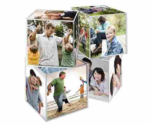 Clear Plastic 6 Sided Photo Cube