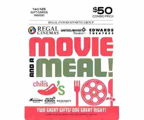 Brinker-Regal Entertainment Movie & A Meal Gift Cards