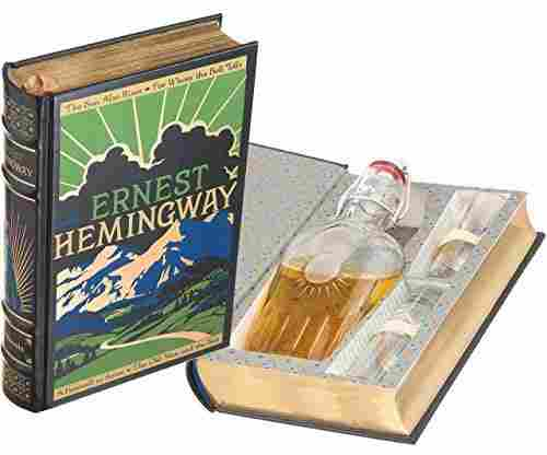 Mini-Bar Ernest Hemingway Hollow Book with Flask and Shot Glass