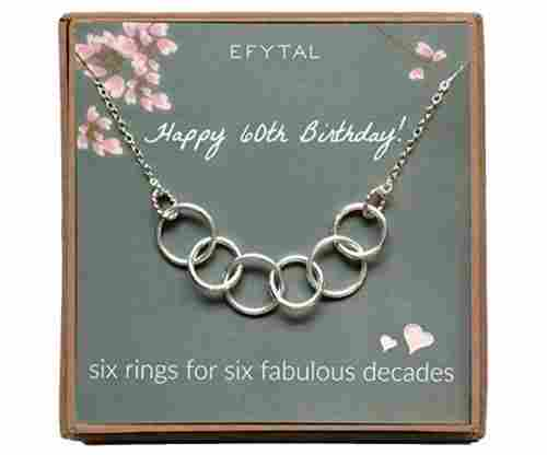 EFTYAL Happy 60th Bday Necklace for Women