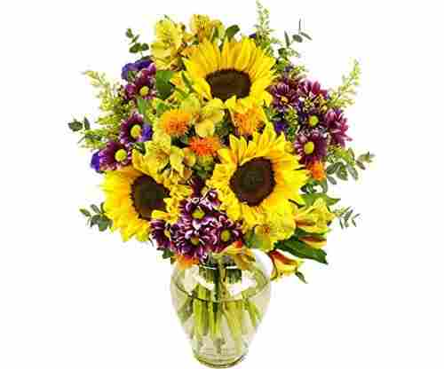 Benchmark Bouquets Flowering Fields Bouquet with Vase