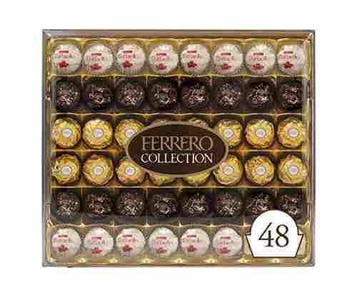 Ferrero Rocher Collection, Fine Hazelnut Milk Chocolates, 48 Count