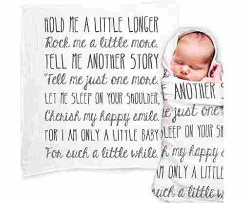 Baby Swaddle Blanket with Quote