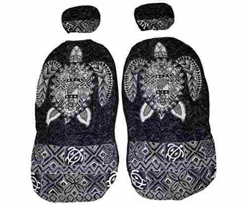 Hawaiian Car Seat Cover with Separated Headrest