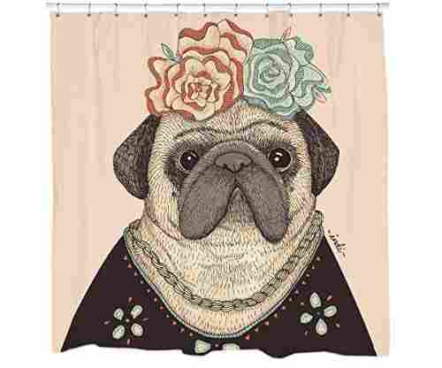 Dog Shower Curtain – Pug Shower Decor