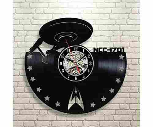 Star Trek Vinyl Record Clock