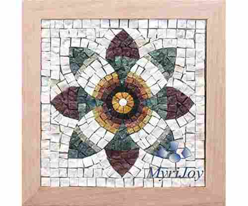 Pomegranate Flower Italian Marble Mosaic Tiles