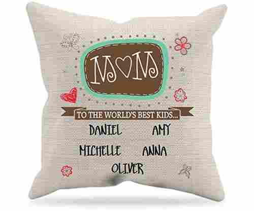 World's Best Mom Personalized Throw Pillow Cover