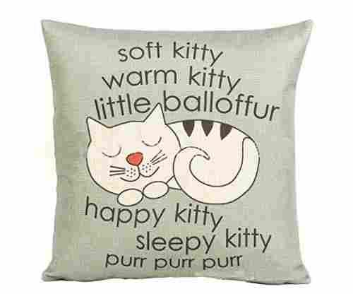 Decorbox Happy Sleepy Kitty Print Cat Pillow Cushion