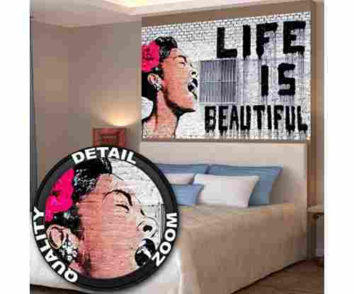 "Banksy – ""Life is beautiful"" Wall paper"