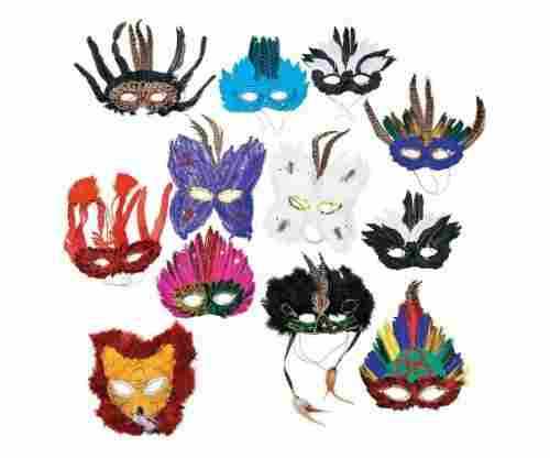 Fun Express Feather Masks