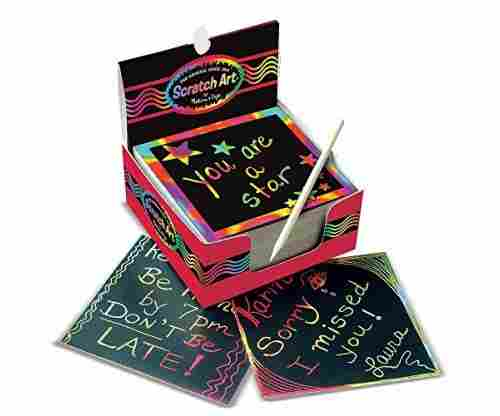 Melissa & Doug Scratch Art Rainbow Mini Notes With Wooden Stylus