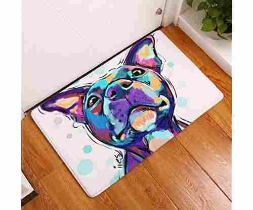 YJ Bear Thin Purple Puppy Dog Pattern Floor Mat