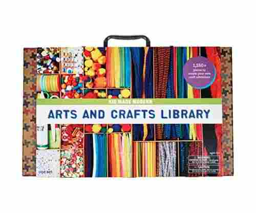 Modern Arts and Crafts Library Set Art Projects in a Box