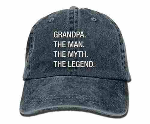 Grandpa Myth Legend Hipster Unisex Baseball Cap