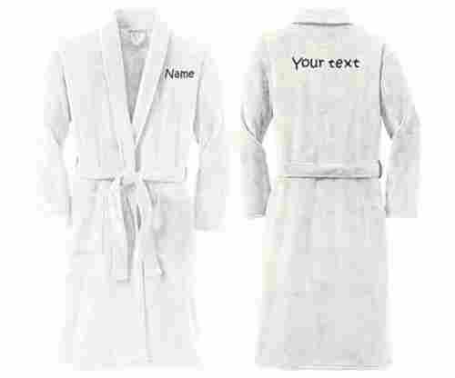 Personalized Plush Microfleece Robe with Embroidered Name & Back