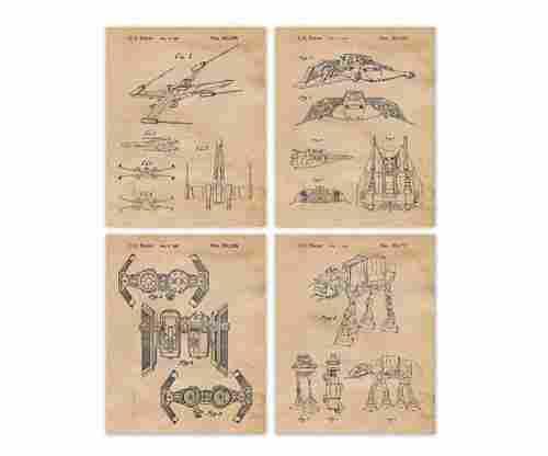 Vintage Star Wars Patent Poster Prints