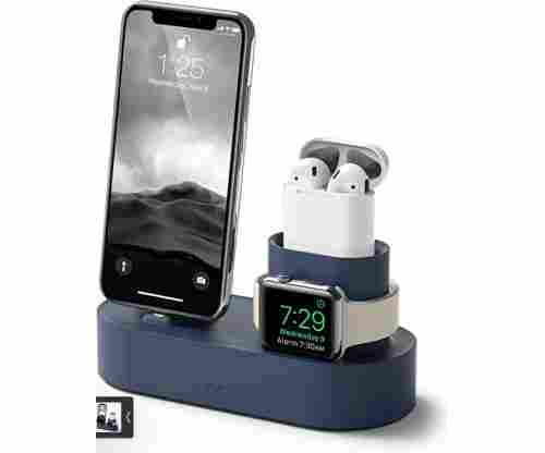 Elago 3 in 1 Apple Charging Station Compatible with Apple Watch Series