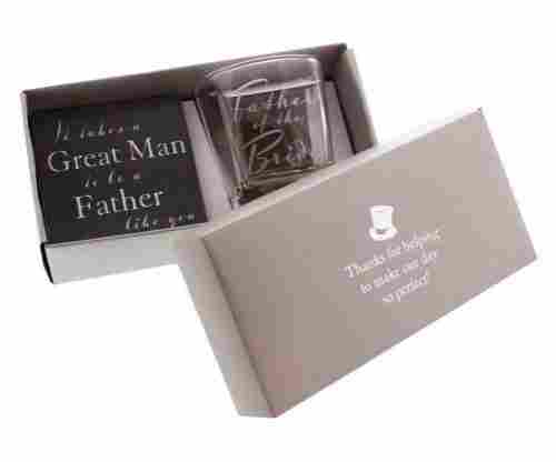 Whiskey Glass and Coaster Gift Set By Haysom Interiors