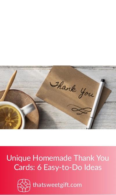 unique homemade thank you cards 6 easytodo ideas